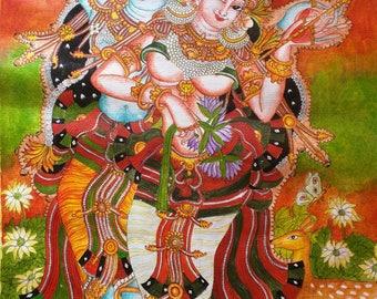 Kerala Mural Radha Krishna