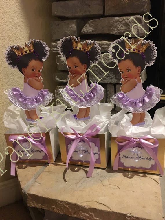 Baby Girl Afro Puff Tutu Centerpiece Baby Shower Birthday