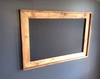 "Huge 36"" x 60""  Rustic Framed MAGNETIC Chalkboard, Rustic Wedding Chalkboard, Kitchen Menu, Menu Board, Rustic Frame"