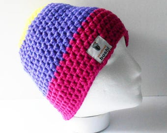 MyBoshi Beanie, Trio Colour Style, Made to Order, Choose your Own Combo, Gifts for Active Adults,  Winter Wear, Outdoor Sports Accessory