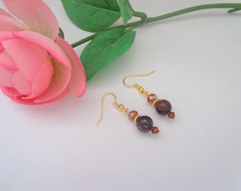 Amber Earrings,Brown Earrings
