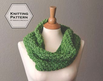 Knitting Pattern | Chunky Infinity Scarf Instant Download Pattern | MOSS