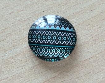 Nice geometry 03 pattern glass cabochon pendant
