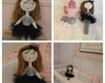 Handmade custom rag doll