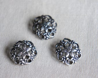 Vintage buttons sterling silver buttons vintage silver buttons vintage sterling silver buttons button lot from the Jeweler's Wife