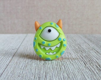Halloween Monster - One Eyed Monster - Green Monster - Costume - Lapel Pin