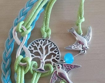 Retrocon Sale - Leather Corded Bracelet - Tree of Life
