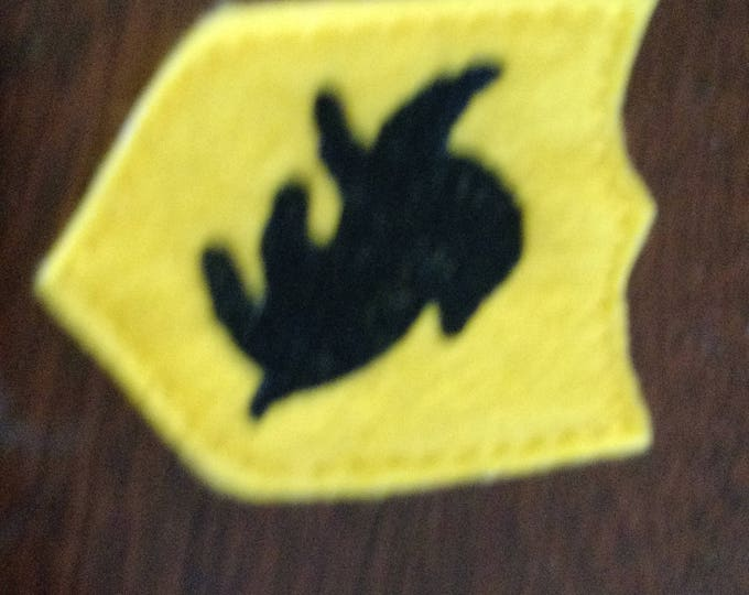 Felt Embroidered Pin - Harry Potter - Hufflepuff