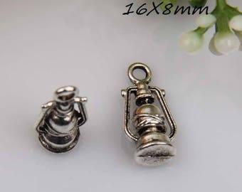 X 2 Tibetan silver 3D Lantern