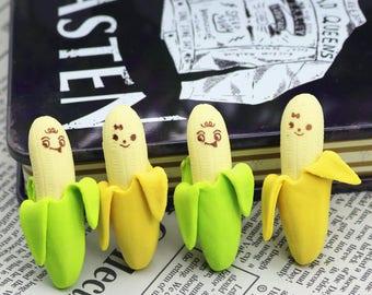 X 1 green kawaii banana Eraser
