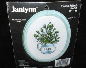 Cross Stitch Kit Basil Cross Stitch Kit JanLynne 51 145