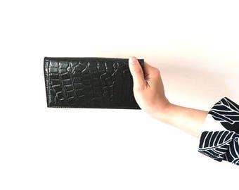 on sale Vintage croco purse, varnish