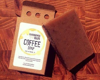 Coffee Soap - Homebrewed Exfoliant Coffee Soap, Coffee Lover, Coffee Stocking Stuffer