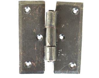 Wrought Iron Hand Made H Shape Hinge for Cabinet or Door Hardware Pair