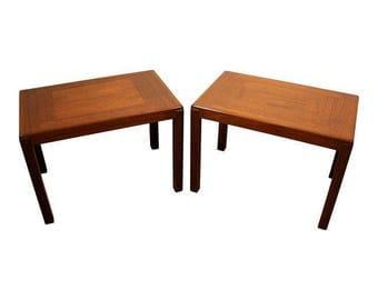 Mid-Century Modern End Tables Vejle Stole-Og Mobelfabrik Danish Modern Teak End Tables