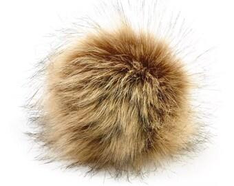 Brown Faux Fur Pompoms