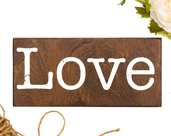 Love Wood Signs Love, Love Wall Art Sign, Rustic Love Signs, Wooden Sign