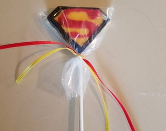 Superhero Superman Chocolate Lollipop
