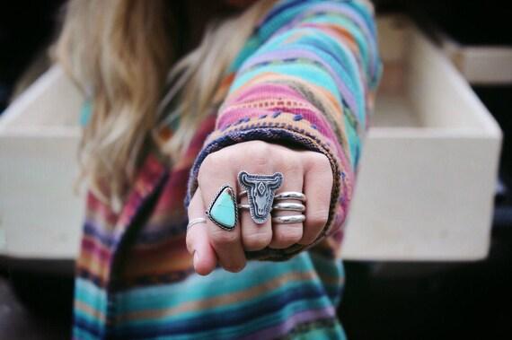 Bull Skull Ring