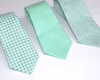 mint ties, mens skinny tie, mint neck tie, mint polka dot, ties for father of the bride, ties for toddlers, mint wedding, boys mint tie