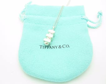 """Tiffany & Co. Sterling Silver Paloma Picasso Groove Bar Pendant Necklace 16"""""""