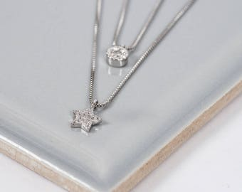 The Nights Sky Silver Necklace