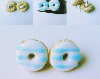 Doughnuts Earring with doughnuts Little doughnuts Funny food Doughnuts with a glaze Gift for her Gift for a girl Summer Spring whinter Coffe