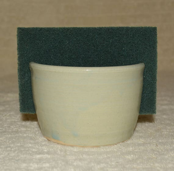 Sponge Holder, Sponge, Pastel Mint, Stoneware, Kitchen