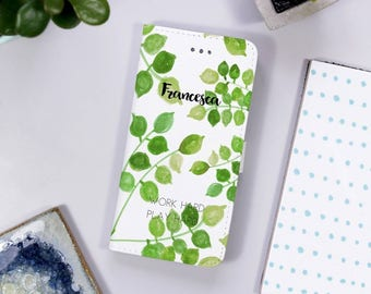Patterned iPhone Case For Her - Personalised Phone Case - Birthday Gift for her - Pretty phone case - Name phone case - Folding phone case