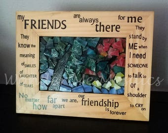 Stained Glass Mosaic - Friendship Autumn Tree