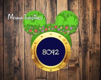 Custom Disney Cruise Moana Maui inspired Mickey Disney Cruise Door magnet