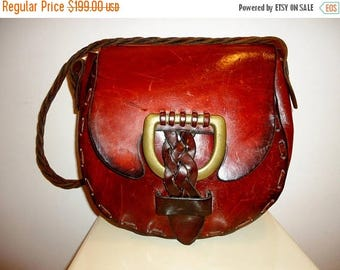 50% OFF Must See Authentic Vintage Leather Saddle Bag