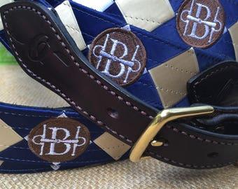 Custom Stirrup Buckle Belt with Satin Ribbon