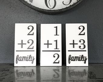 Family Flashcards - Laser Cut Sign