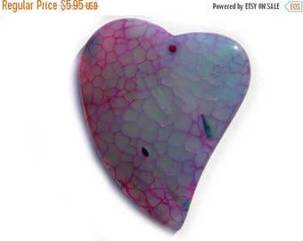 HALF PRICE Purple Heart Dragon Agate Statement Bead Focal Bead Pendant Bead