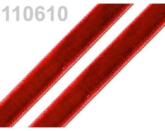 5 m of Red 9 mm velvet Ribbon