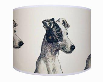 lamp shade/ ceiling light/ pendant light/ terrier/ dog lamp shade/ drum lampshade/ lighting/ handmade/ home