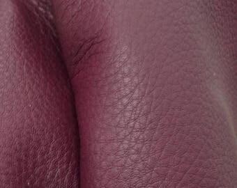 "NZ Deer Sale Royal Plum Purple Leather New Zealand Deer Hide 12"" x 12"" Pre-cut 3-3 1/2 ounces -11 DE-66111 (Sec. 6,Shelf 6,B)"