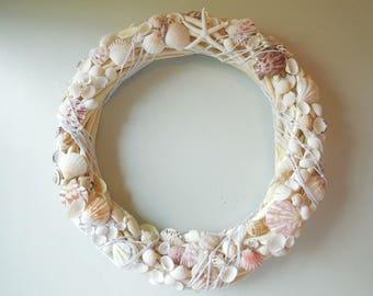 Rattan SeaShell Wreath-Beach Wreath-Door Wreath-Beach Decor-Shell Wreath-Summer Wreath