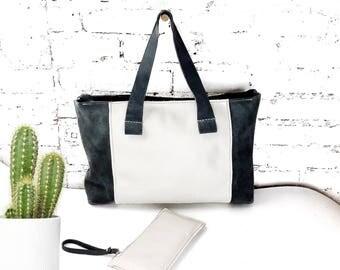 Leather tote bag/weekender bag/Leather bag/gift for her/everyday bag/leather shoulder bag/everyday tote/zipper bag/large tote bag/shopper
