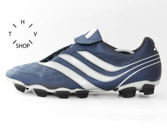 NOS vintage Adidas Salvador Traxion Soft Ground soccer boots / Predator TRX SG football shoes / Accelerator Precision Manic Rapier / 2000s