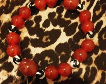 Custom Designed Carnelian Bracelet