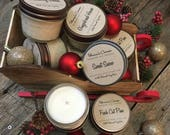 Winter Collection- 4oz Mason Jar Soy Candle