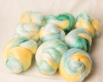 Super fun Merino Silk Battling Set for spinning or felting (170249)