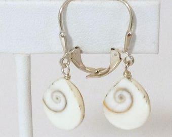 Shell Teardrop Dangle Earrings 925 Sterling Silver gw16-260