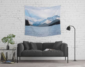 Winter Tapestry | Snow Tapestry | Landscape Tapestry | Mountain Tapestry | Tapestry Wall Hanging | Mountain Wall Decor | Winter Decor