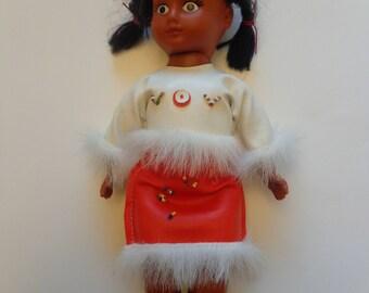 Vintage Mid Century Native American Doll, Vintage Dolls, Native American Princesse Doll, Indian Doll, Vintage Indian Doll, Old Doll Native