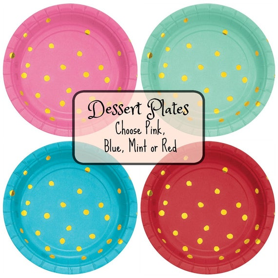 Il_570xn  sc 1 st  Catch My Party & Dessert Plates Dessert Paper Plates Red Plates Blue Plates Green ...