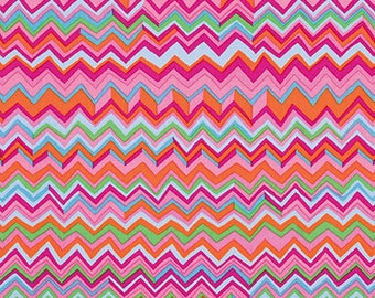 ZIG ZAG Pink Brandon Mably for Kaffe Fassett Collective Sold in 1/2 yard increments