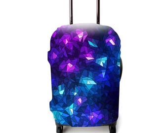 Luckiplus Star Luggage Cover Spandex Suitcase Cover Fits 18-32 Inch Luggage